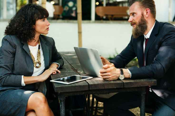 agreement beard brainstorming business